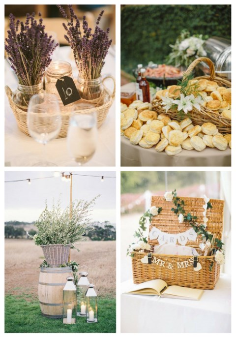 Ways To Use Baskets At Your Wedding: 23 Ideas
