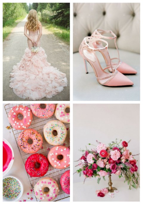 34 Cute Pink Touches For A Valentine Wedding