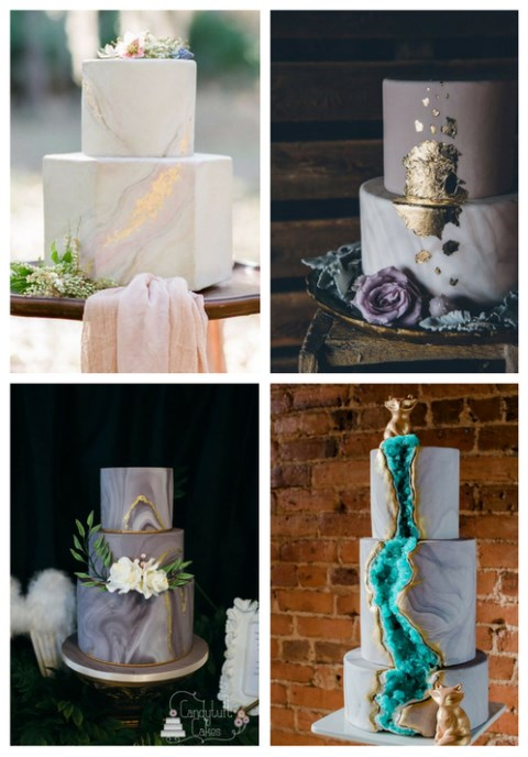 41 Edgy Marble Wedding Cakes