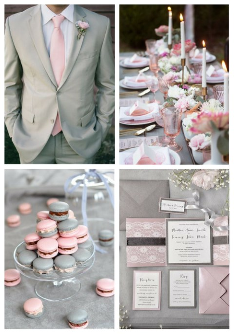 39 Romantic Grey And Pink Wedding Ideas Happywedd