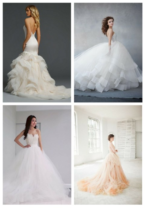 38 Stunning Layered Tulle Wedding Dresses