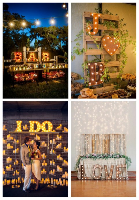25 Marquee Letters Ideas For Your Wedding