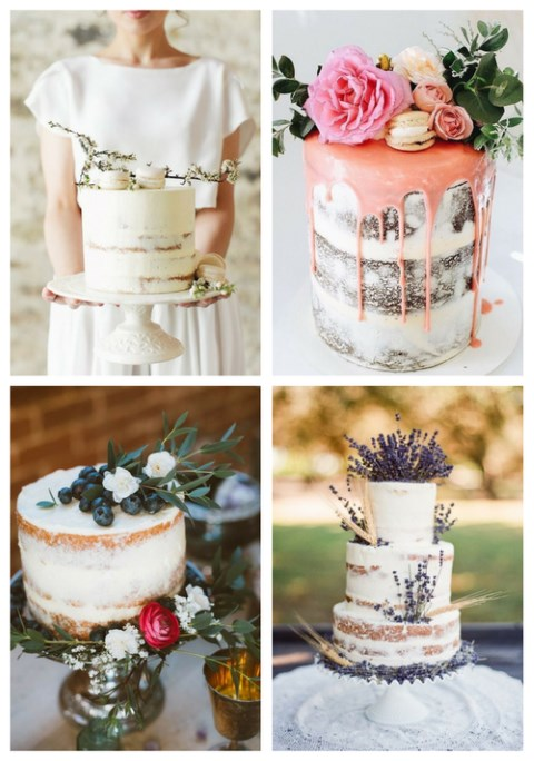 34 Yummy Semi Naked Wedding Cakes