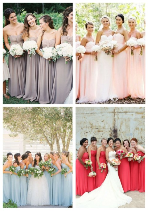 22 Strapless Bridesmaids' Dresses