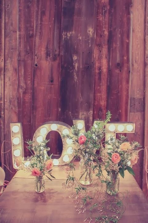 marquee LOVE letters for decor