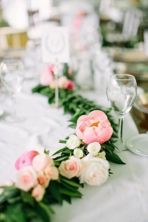 peony and rose garland is refreshing and chic