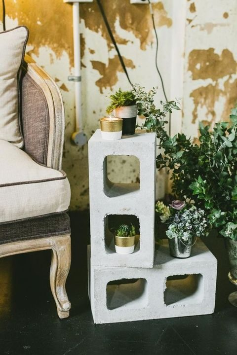 plant concrete stand for decorating your venue
