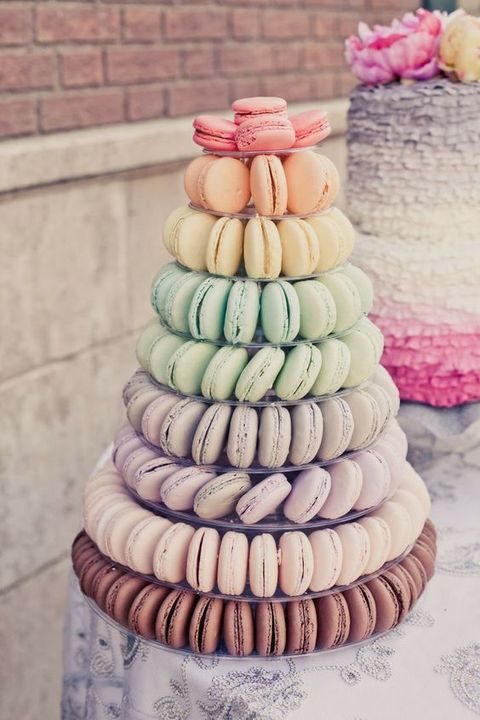 rainbow macaron cake instead of a usual one