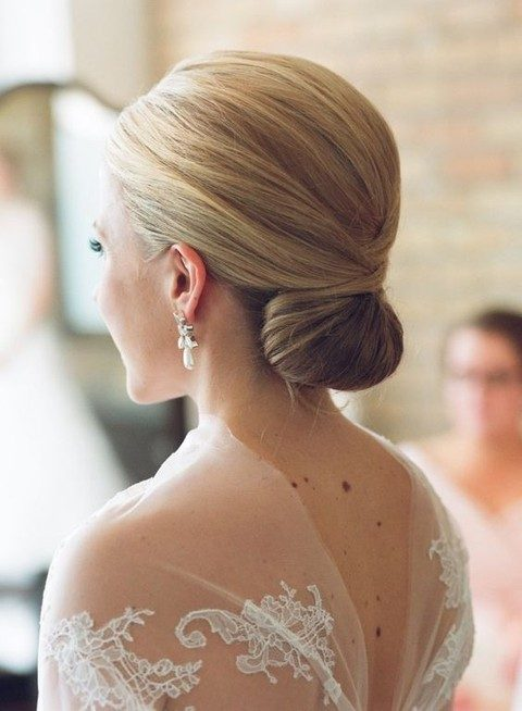 sophisticated low bun