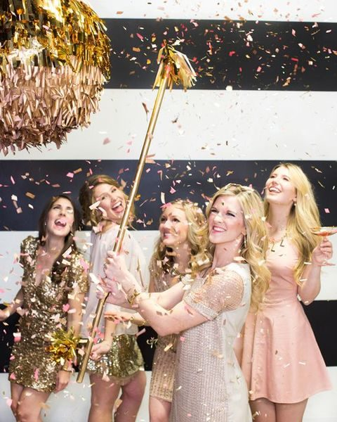 sparkling bridal shower pinata