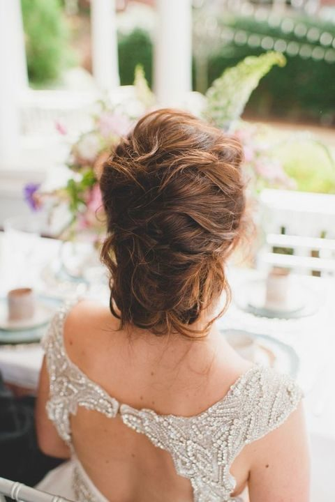 Copy of simple messy updo for medium hair
