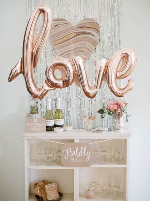 LOVE balloons for your bubbly bar