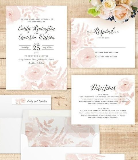 blush floral stationery
