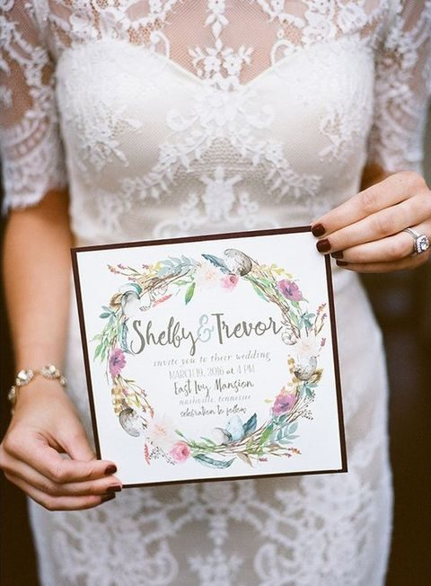 elegant lined watercolor stationery