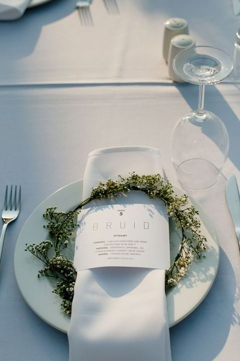 floral wreaths for each placemat