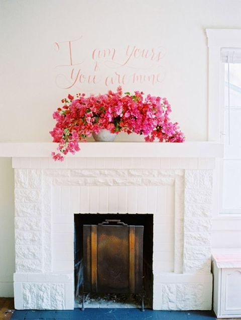 lush pink floral decor