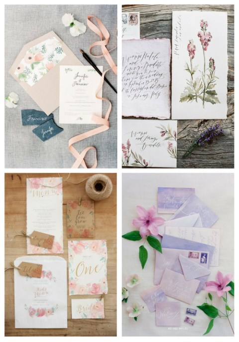 37 Cute Spring Wedding Stationary Ideas