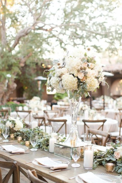 soft neutral color palette with greens and flowers