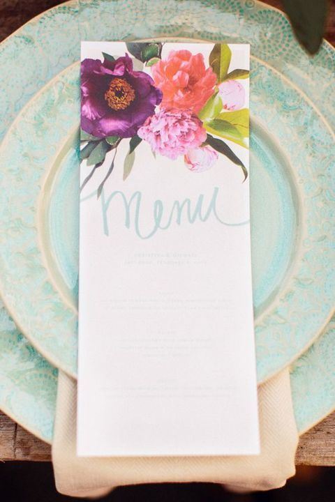 spring garden watercolor stationery