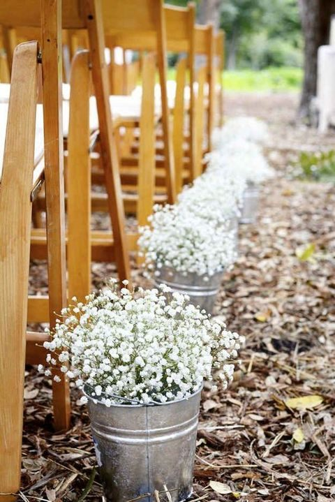 Simple Cute Spring Backyard Wedding Ideas | HappyWedd.com