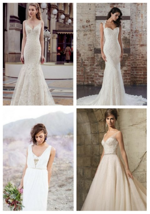 22 Strap Wedding Dresses You'll Admire