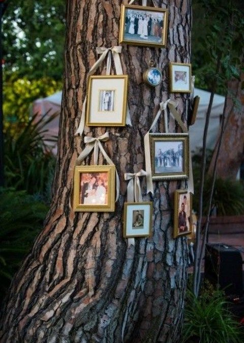 some of your family photos will add a sweet touch