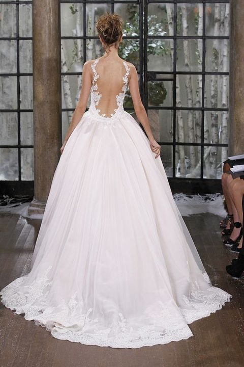adorable ball gown with lace back detailing