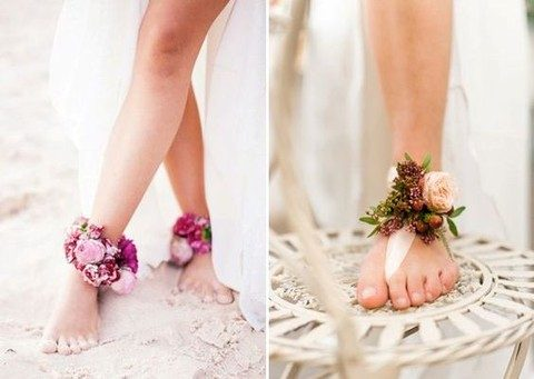 ankle floral bracelets for boho brides