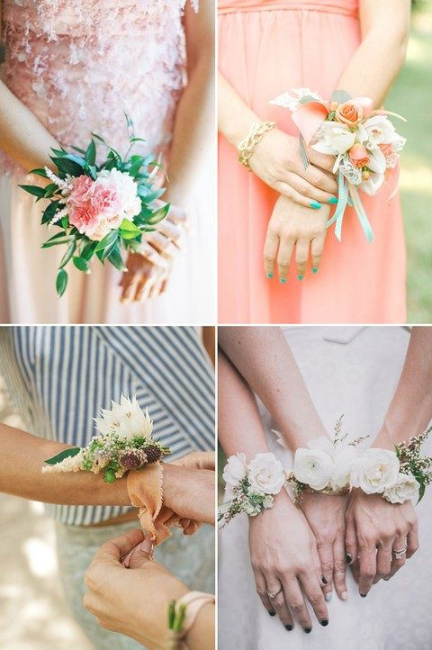 awesome flower wirst corsages for bridesmaids