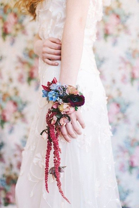 bold floral arm band