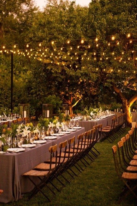 outside wedding lighting ideas. Exellent Outside Bulb Strings In Rows Are A Great Solution For Any Type Of Wedding To Outside Wedding Lighting Ideas HappyWeddcom