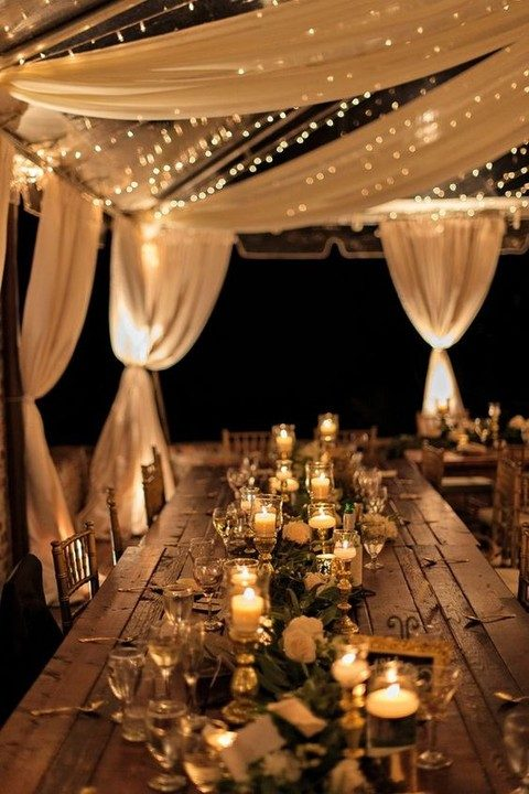 38 outdoor wedding lights ideas youll love happyweddcom for Outdoor wedding reception lighting