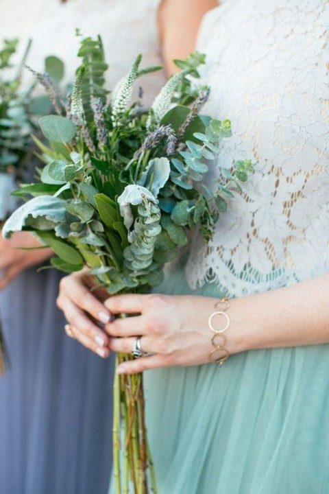 greenery bridesmaid's bouquet