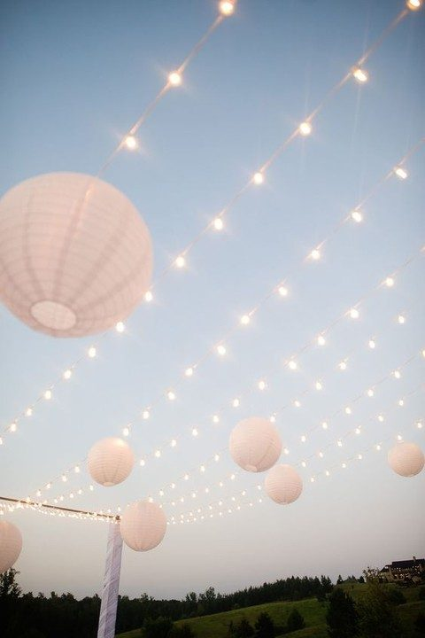 lights and paper lanterns to bring more light in