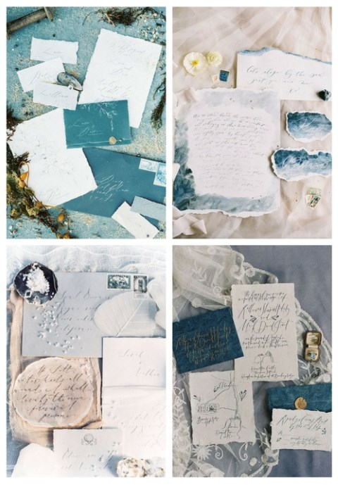 33 Coastal And Beach Wedding Stationary Ideas