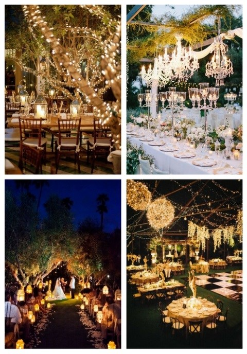 38 Outdoor Wedding Lights Ideas You'll Love