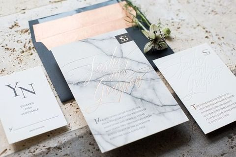 marble invitations are a stunning modern choice