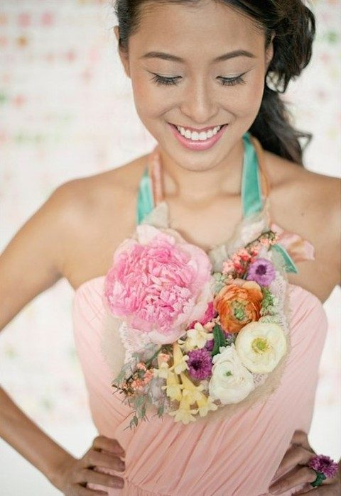 statement floral necklace for the bridesmaid