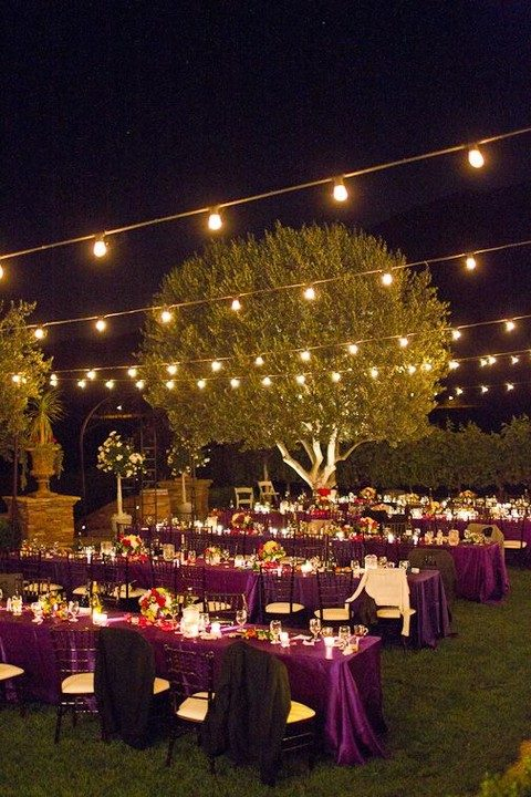 strings of bulbs are perfect for any reception decor