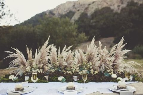 wild grass looks like plumes, it's a unique table centerpiece