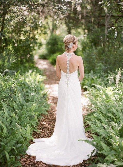 34 Refined Racerback Wedding Dresses | HappyWedd.com