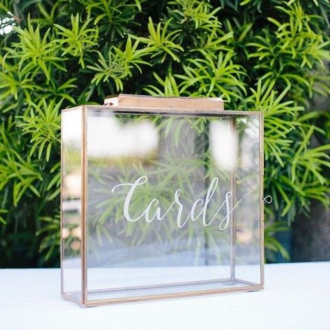 clear glass box with calligraphy is a perfect modern solution