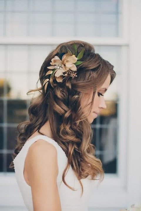curls and flowers on the side