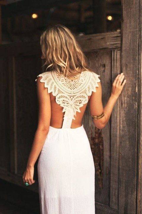 daring crochet lace racerback that looks boho chic