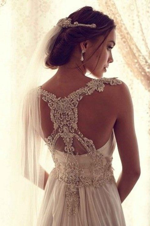 exquisite heavily beaded racerback