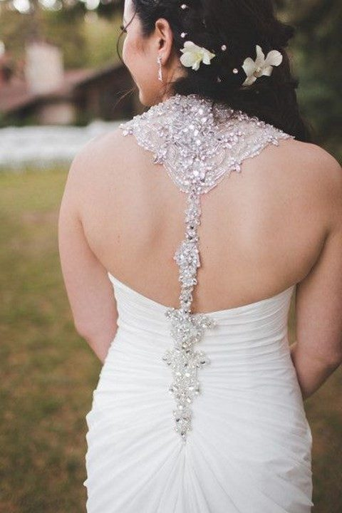 havily beaded racerback strap
