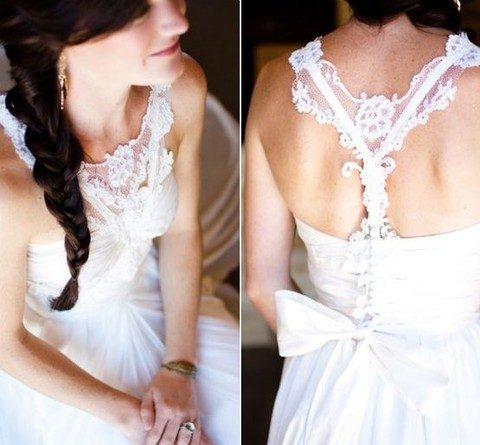 lace racerback with a bow looks cute and girlish