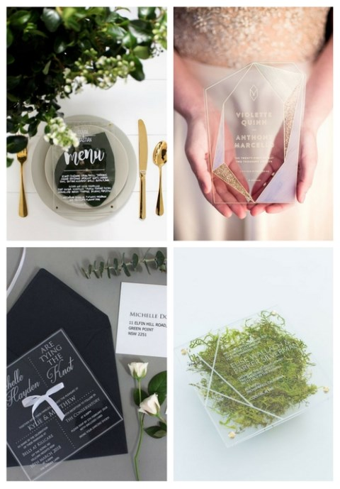 33 Edgy Acrylic Wedding Stationary Ideas