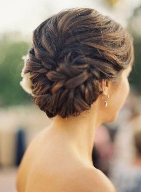 twisted well-tied wedding updo is very secure