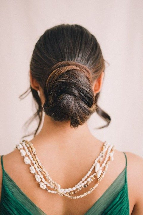 well-tied bun is a great idea for active brides